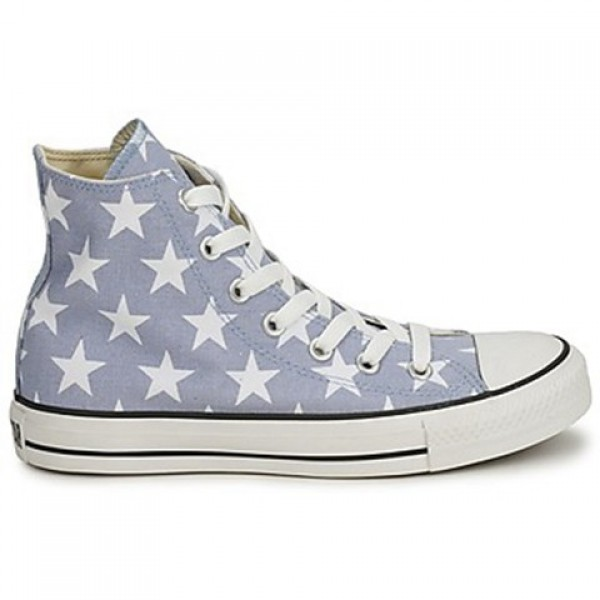 Converse All Star Big Star Print Hi Grey White Wom...