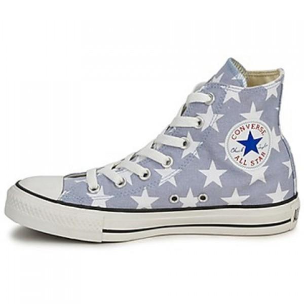 Converse All Star Big Star Print Hi Grey White Women's Shoes