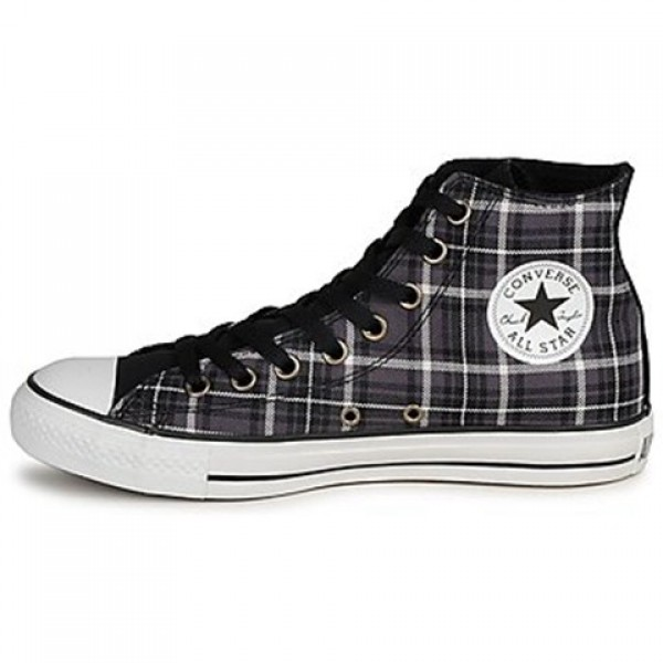Converse All Star Classic Plaid Hi Rabbit Vaporous Gray Women's Shoes