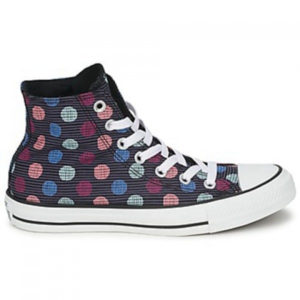 Converse All Star Polka Dot Hi Black Multi Women's...
