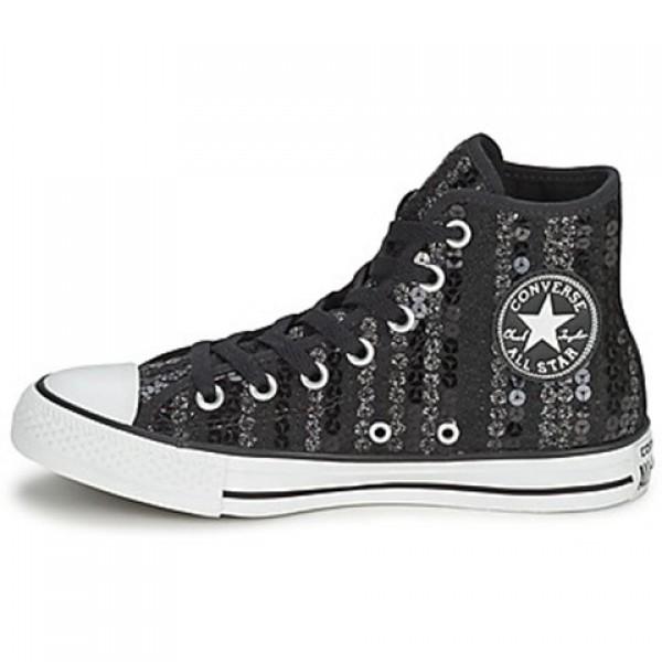 Converse All Star Sequins Hi Black Women's Shoes