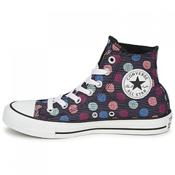 Converse All Star Polka Dot Hi Black Multi Women's Shoes