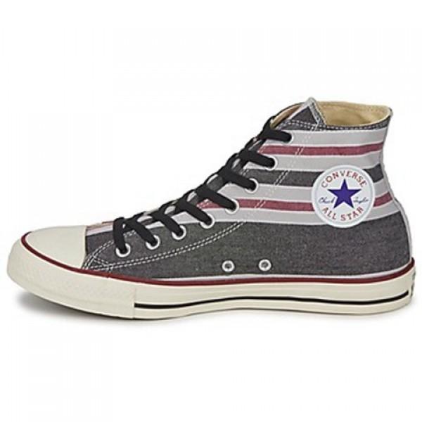 Converse All Star Season Hi Black Bordeaux Grey Women's Shoes