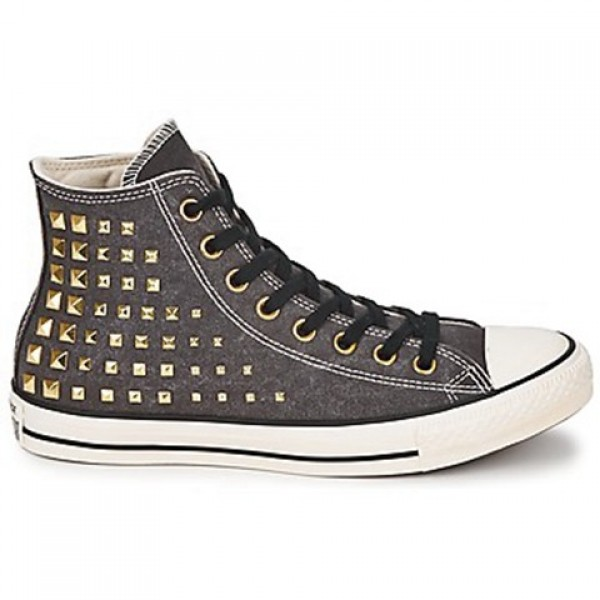 Converse All Star Collar Studs Hi Black Women's Sh...