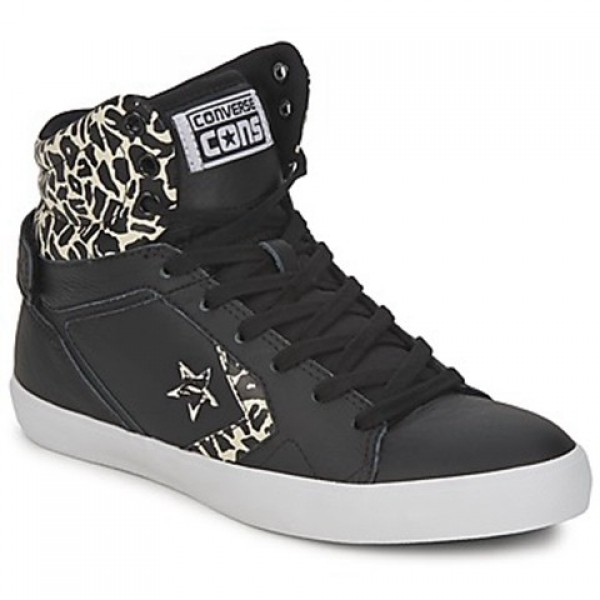 Converse All Star Mid Black Beige Women's Shoes