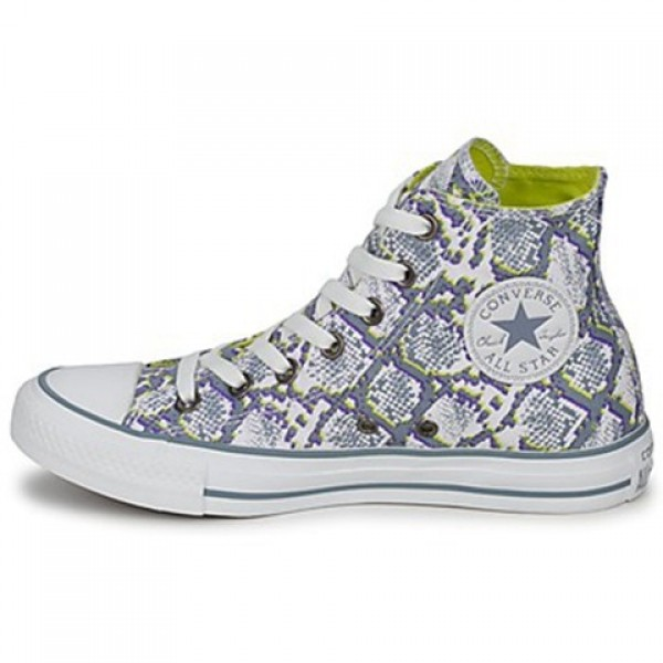 Converse All Star Snake White Grey Yellow Women's Shoes