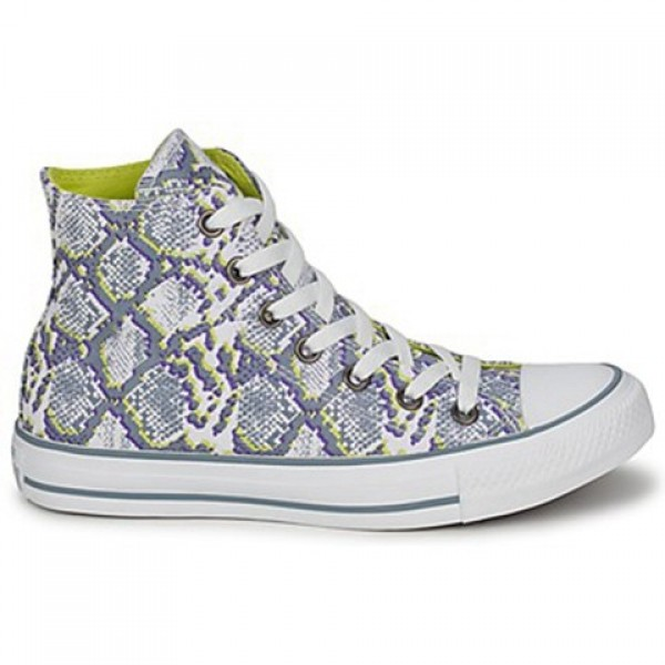 Converse All Star Snake White Grey Yellow Women's ...