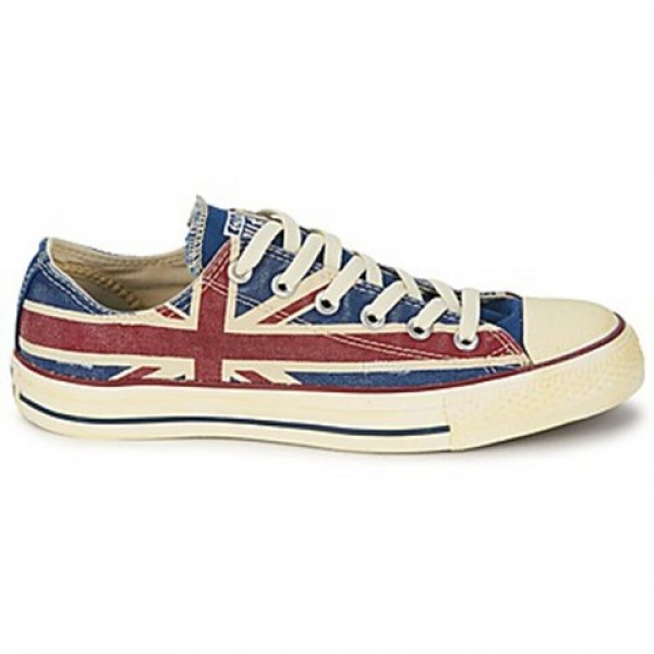 Converse All Star Union Jack White Blue Red Women'...