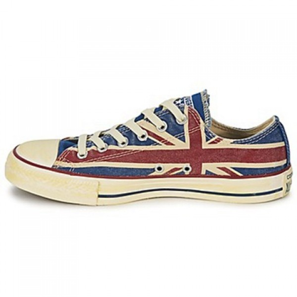 Converse All Star Union Jack White Blue Red Women's Shoes