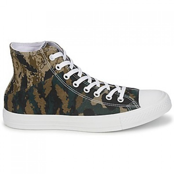 Converse All Star Tri Panel Hi Camo Kaki Green Wom...