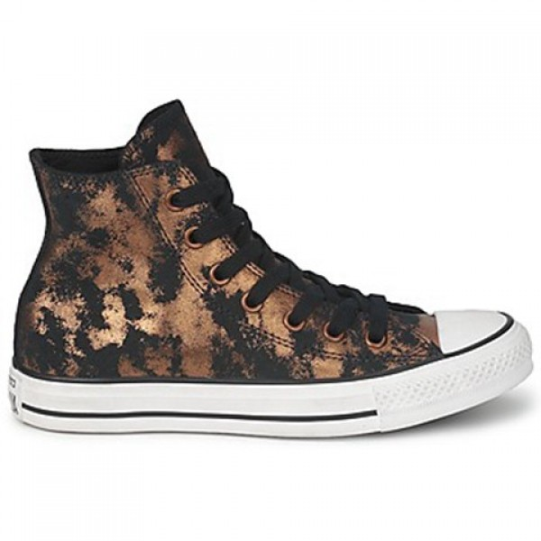 Converse All Star Fashion Leather Hi Gold Black Wo...