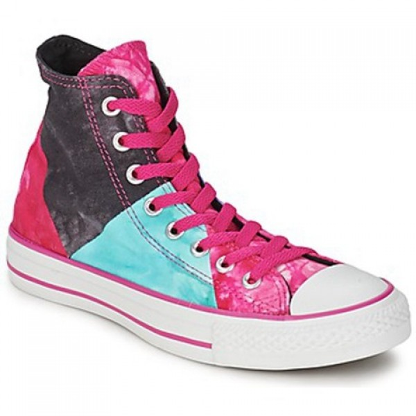 Converse All Star Multi Panel Tie Dye Hi Eglatine Mesange Pink Women's Shoes