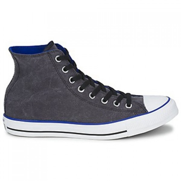 Converse All Star Washed Hi Black Blue Women's Sho...