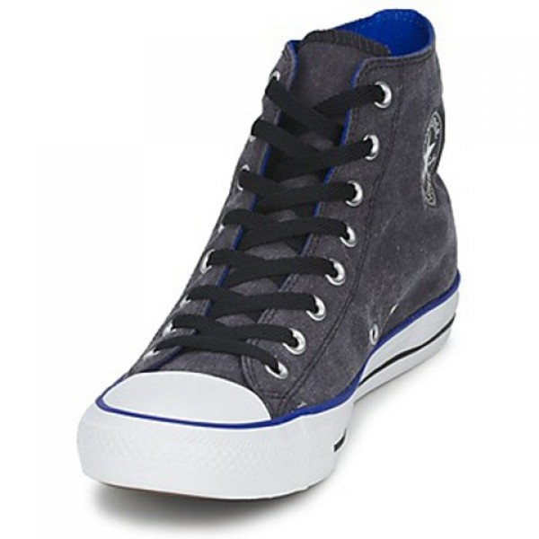 Converse All Star Washed Hi Black Blue Women's Shoes
