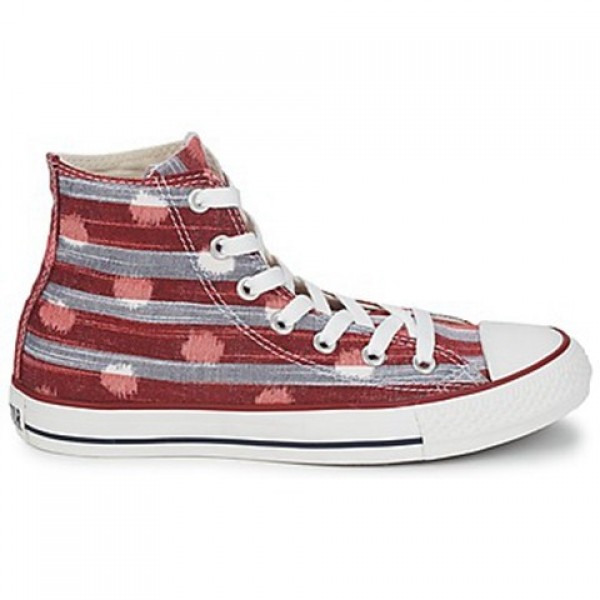 Converse All Star Striped Polka Dot Hi Varsity Red...