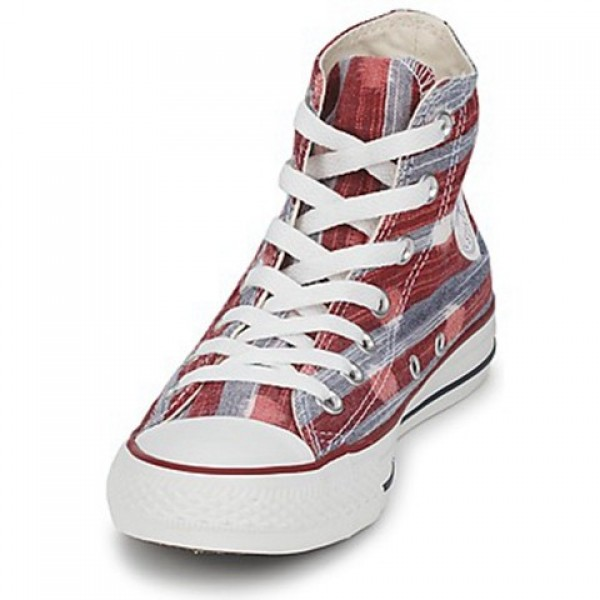 Converse All Star Striped Polka Dot Hi Varsity Red Athletic Women's Shoes