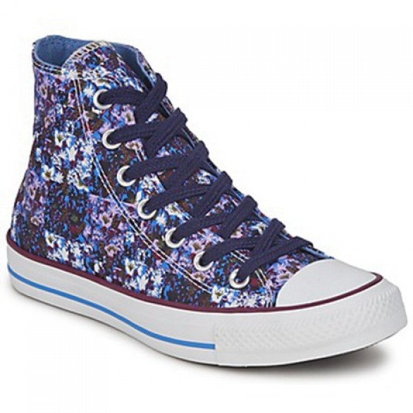Converse All Star Floral Hi Blue Women's Shoes