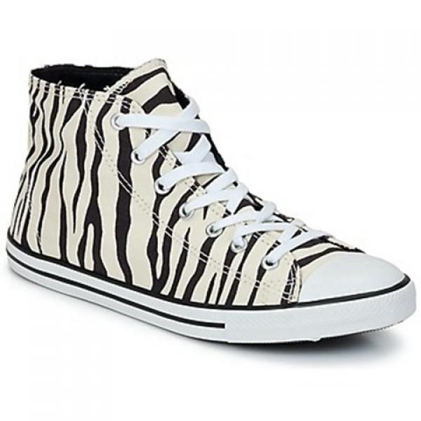 Converse All Star Dainty Zebra Mid raw Black Women's Shoes