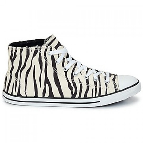 Converse All Star Dainty Zebra Mid raw Black Women...