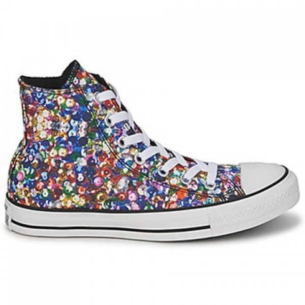 Converse All Star Sequin Hi Printed Women's Shoes