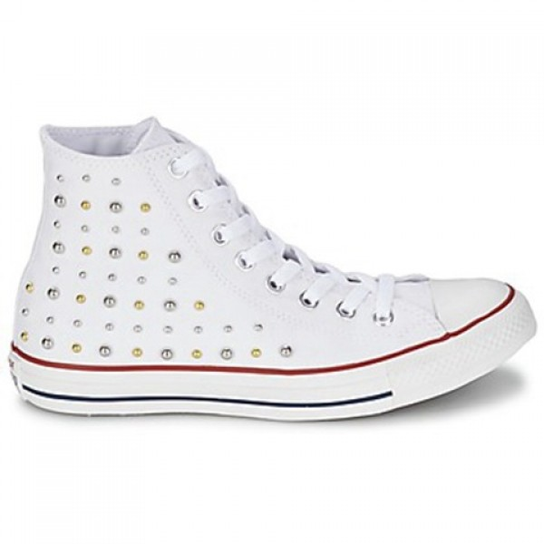 Converse All Star Studs Hi White Women's Shoes