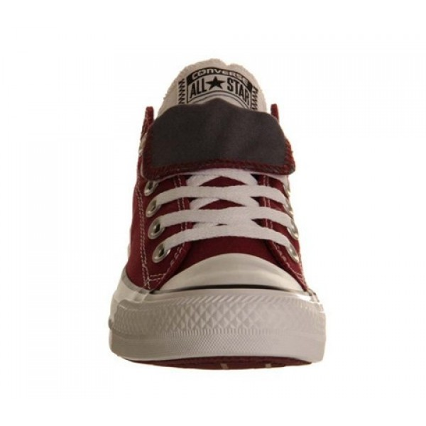 Converse All Star Low Double Tongue Maroon White Grey Unisex Shoes