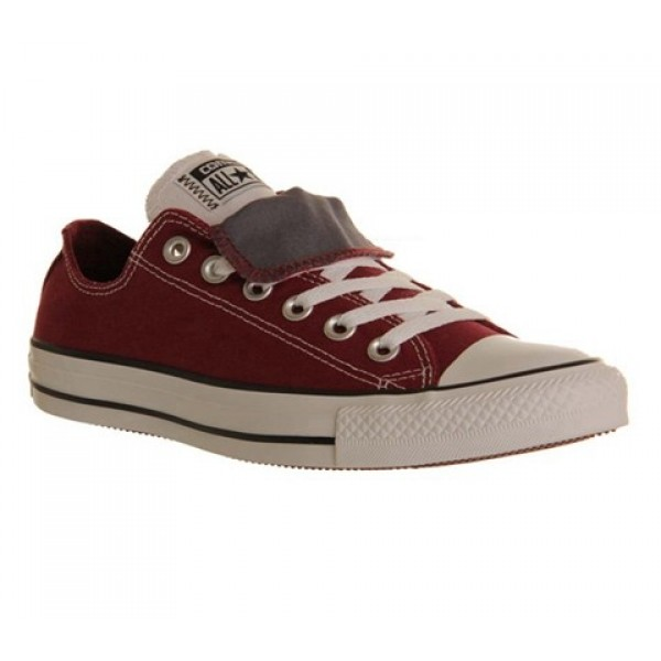 Converse All Star Low Double Tongue Maroon White G...