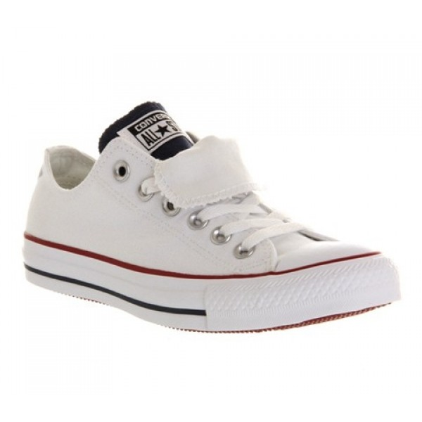 Converse All Star Low Double Tongue White Blue Red Exclusive Unisex Shoes
