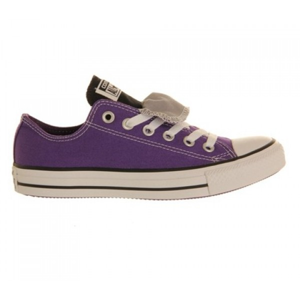 Converse All Star Low Double Tongue Laker Purple Grey Unisex Shoes