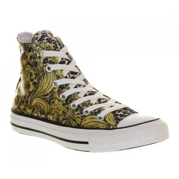 Converse All Star Hi Gold Leopard Luxe Unisex Shoe...