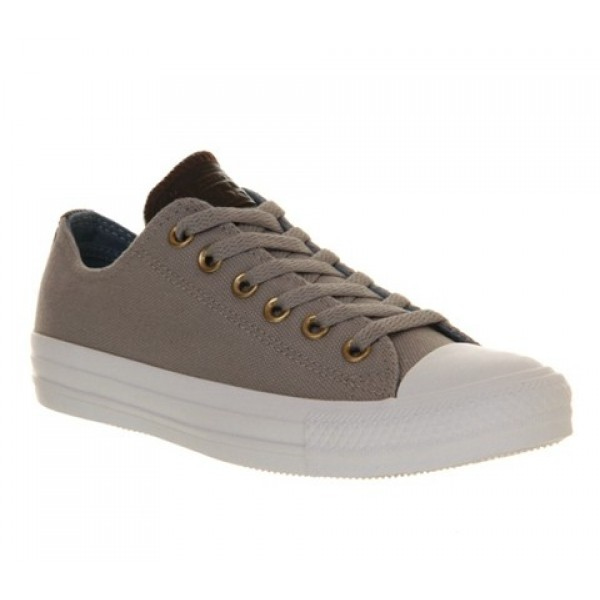 Converse All Star Low Drizzle Grey Brown Leather U...