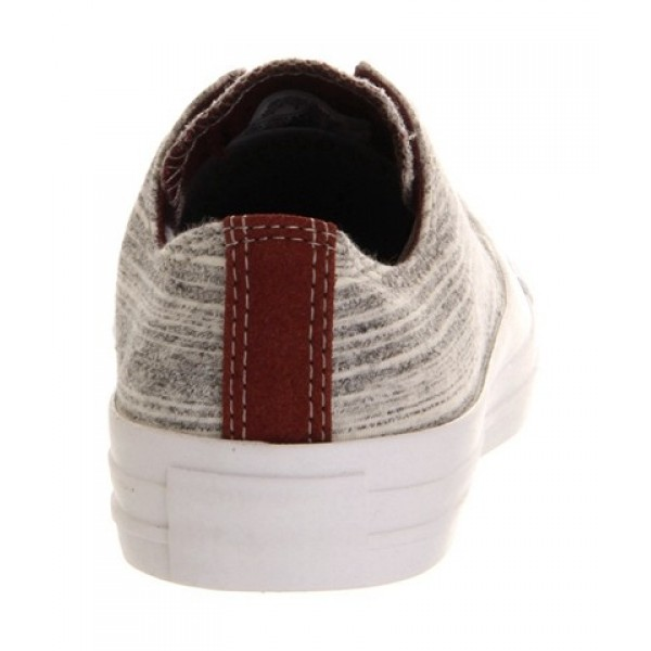 Converse All Star Low Flecked Grey Marl Burgundy Unisex Shoes
