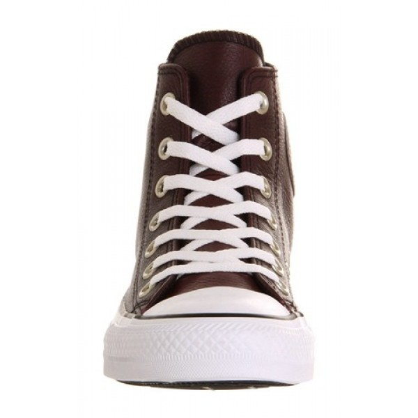 Converse All Star Hi Leather Burgundy Burnished Unisex Shoes