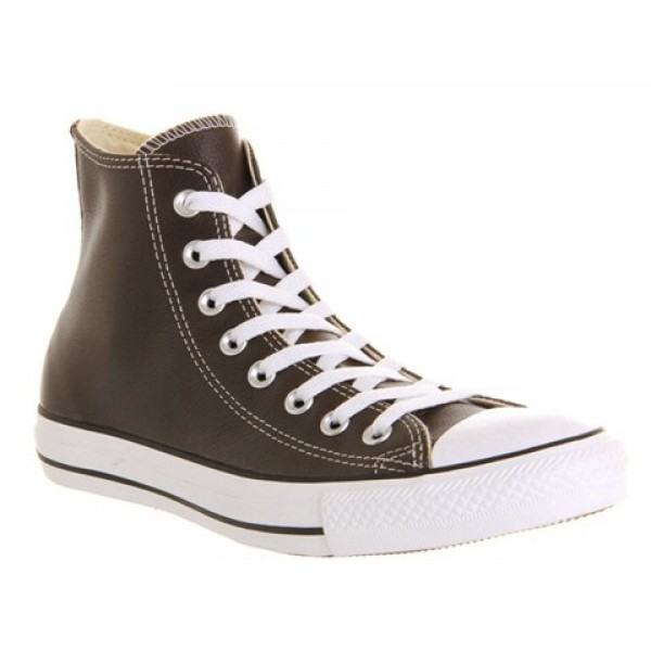 Converse All Star Hi Leather Chocolate Leather St ...