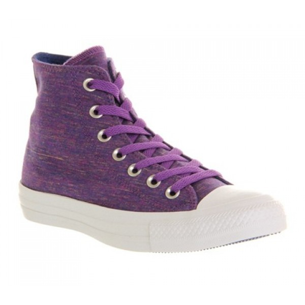 Converse All Star Hi Purple Flecked Marl Unisex Sh...