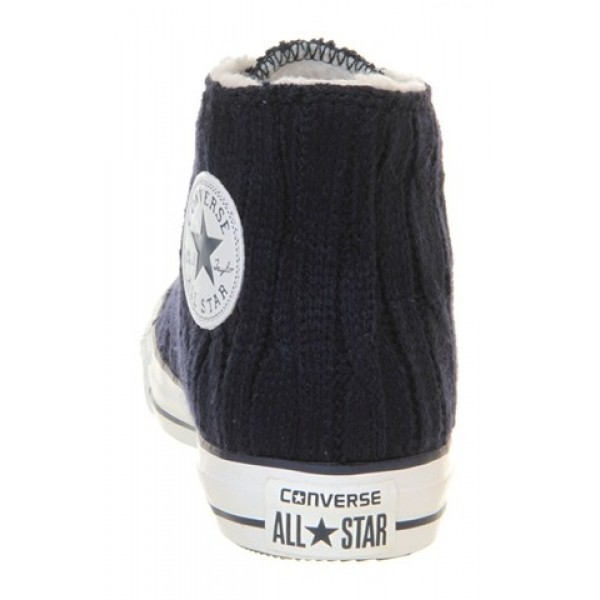 Converse All Star Hi Navy Cardy Shearling Unisex Shoes