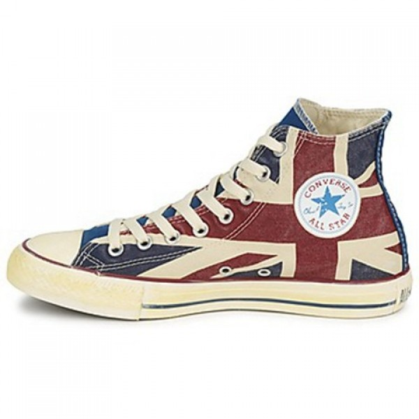 Converse All Star Union Jack Hi White Blue Red Women's Shoes
