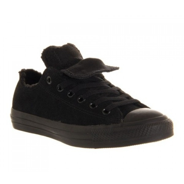 Converse All Star Low Double Tongue Black Mono She...