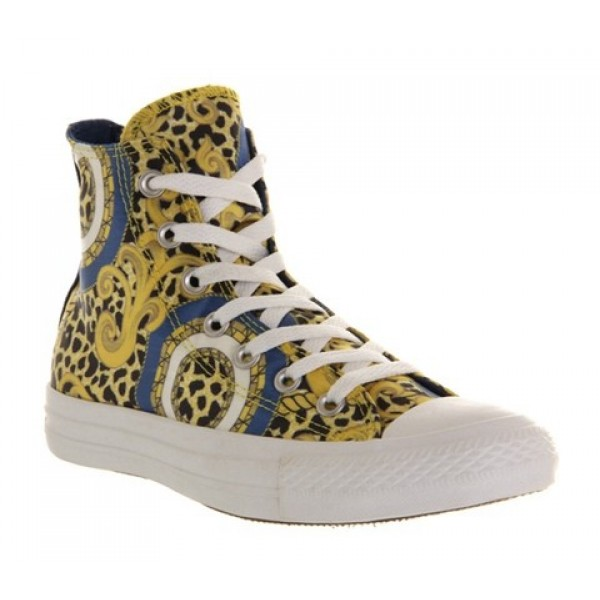 Converse All Star Hi Luxe Gold Midnight Lake Unisex Shoes