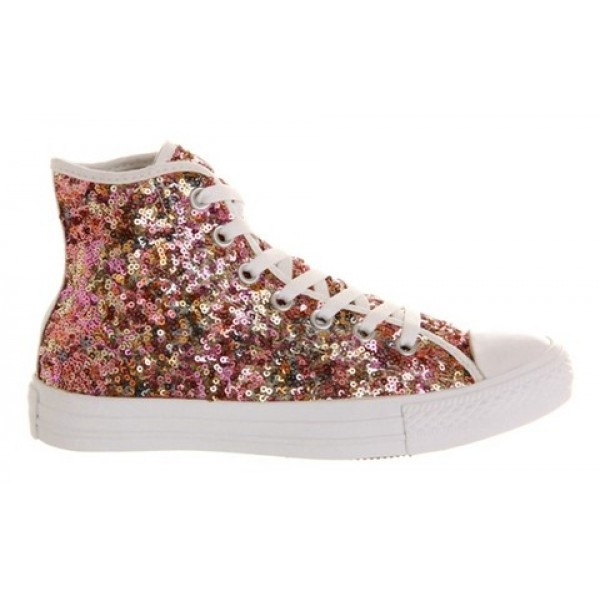 Converse All Star Hi White Multi Sequin Exclusive Unisex Shoes
