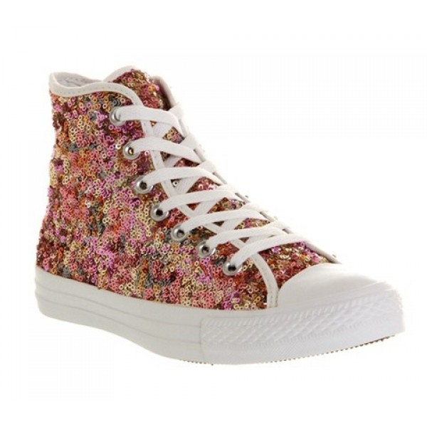 Converse All Star Hi White Multi Sequin Exclusive ...