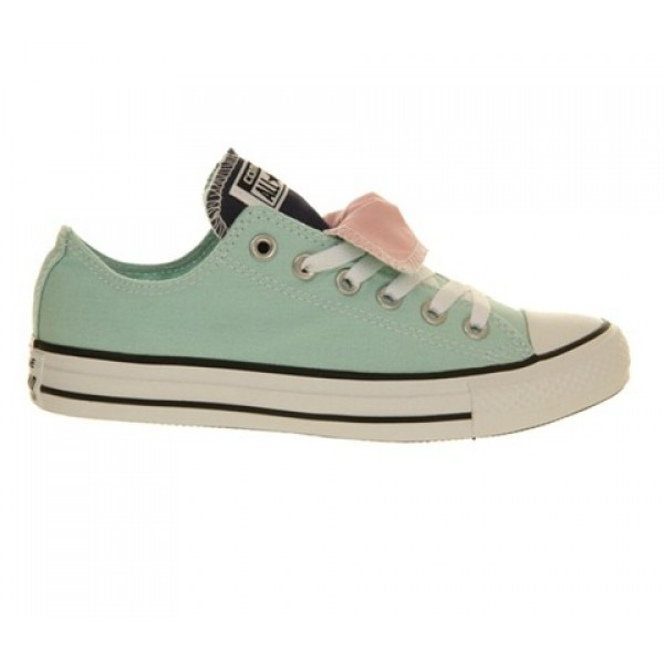Converse All Star Low Double Tongue Foam Ensign Blue Mallow Pink Exclusive Unisex Shoes