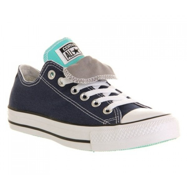 Converse All Star Low Double Tongue Dark Denim Whi...