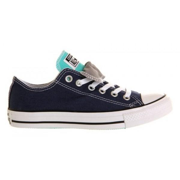 Converse All Star Low Double Tongue Dark Denim White Mint Exclusive Unisex Shoes
