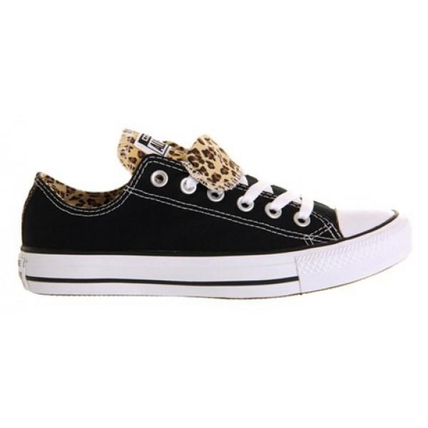 Converse All Star Low Double Tongue Black Leopard Unisex Shoes