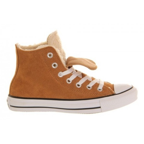 Converse All Star Hi Double Tongue Chestnut Beige Shearling Unisex Shoes