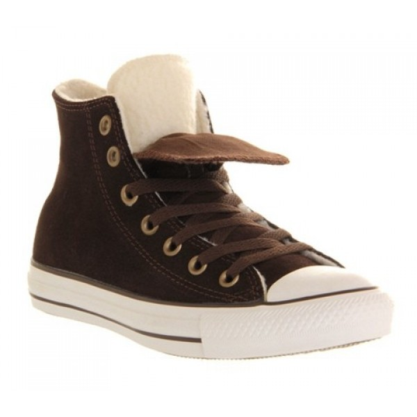 Converse All Star Hi Double Tongue Chocolate Shear...