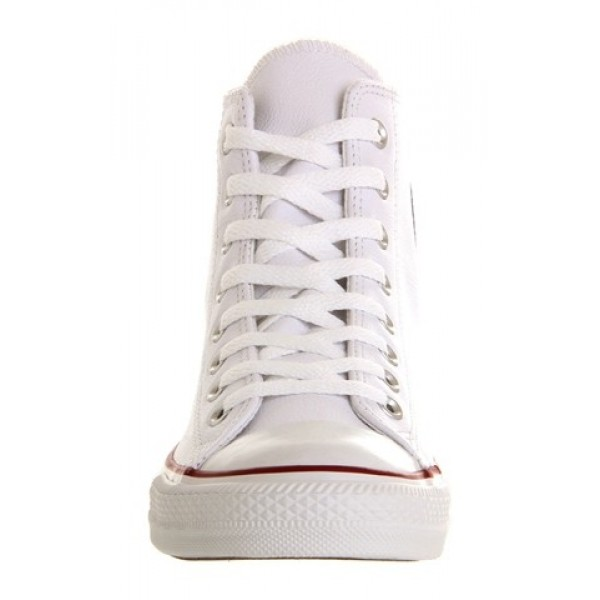 Converse All Star Hi Leather White Leather Unisex Shoes