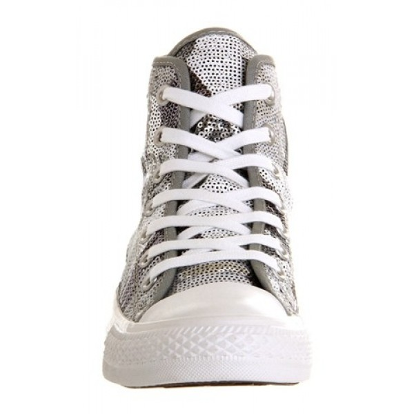 Converse All Star Hi Silver Sequin Exclusive Unisex Shoes