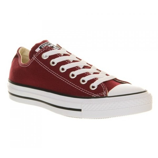 Converse All Star Low Maroon Canvas Unisex Shoes